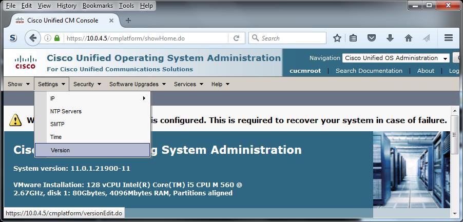 210-060 Collaboration Devices Lab 8-1 CUCM First Run & Shutdown